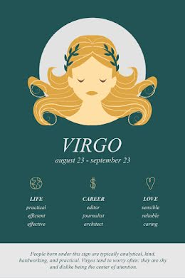 Virgo Horoscope - Pinterest Pin item