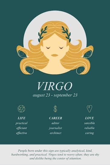 Virgo Horoscope - Pinterest Pin template
