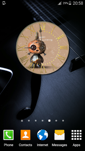 Halloween Night Clock