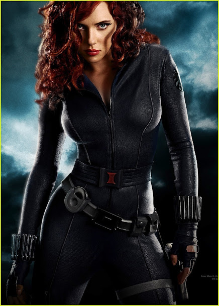 Scarlett Johansson as Black Widow, Scarlett Johansson in latex
