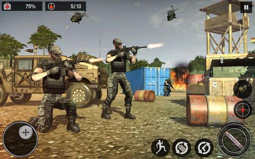 Frontline Army Ghost Mission - Anti-Terrorist Game apktreat screenshots 1