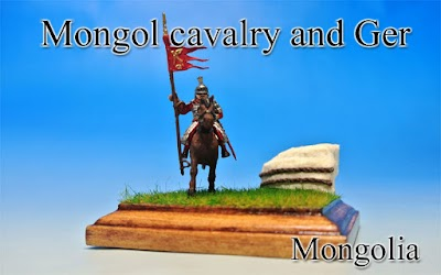 Mongol cavalry & Ger -Mongolia-