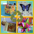 Crafts with recycled crafts icon