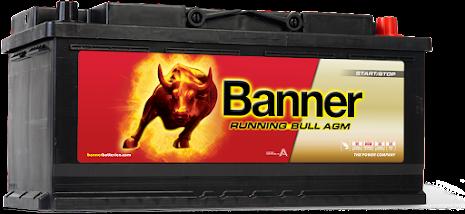 Banner Running Bull -AGM 12v 105Ah