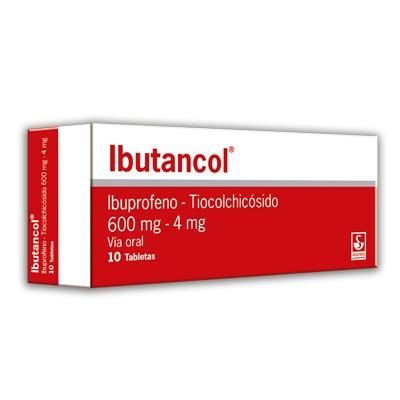 Ibuprofeno + Tiocolchicosido Ibutancol 600/4 Mg X 10 Tabletas Meyer 600/4 mg x 10 Tabletas