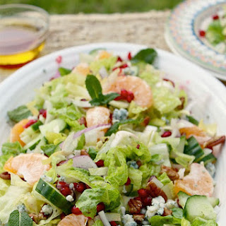10 Minute Healthy Pomegranate Salad.