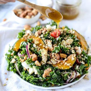 Crunchy Cashew Kale Salad.
