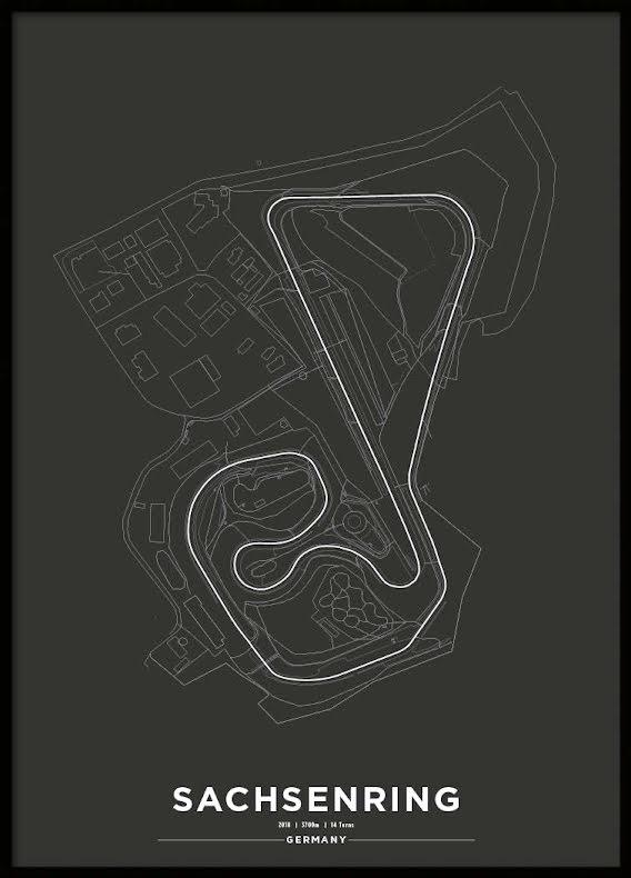 Poster, Sachsenring Svart