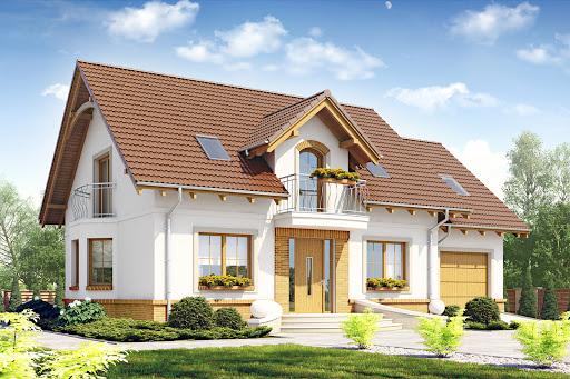 projekt Dom Dla Ciebie 1 w2 z garażem 1-st. A