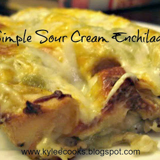 SIMPLE SOUR CREAM CHICKEN ENCHILADAS