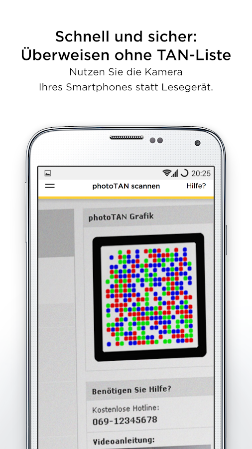 Commerzbank photoTAN- screenshot