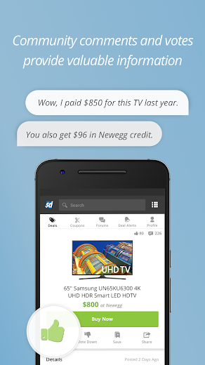 Screenshot 3 for SlickDeals's Android app'