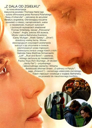 Tył ulotki filmu 'Z Dala Od Zgiełku'