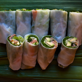 Fresh Spring Rolls With Salmon