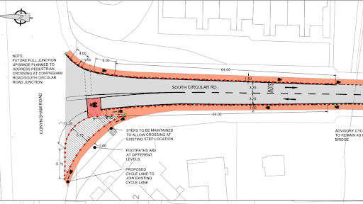 Quick-build cycle lanes planned for Dublin's South Circular