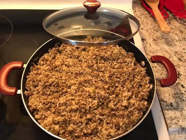 I Broke Ranks And Used Parboiled Rice, I Also Kicked It Ip A Notch Using 'hot' Pork Sausage. After Browning Sausage/beef, I Pulsed The Mixture In My Ninja Two Times To Get A Uniform Grind, No Clumps. Magnificent. I Halved The Recipe For My Household.