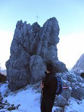 Photo: Blick zurück zum Gipfel