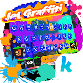 Jet Graffiti Art Splash Keyboard Theme
