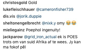 Jack Parow responds to tweet.