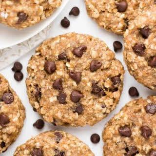 Healthy Chocolate Chip Banana Oatmeal Breakfast Cookies.