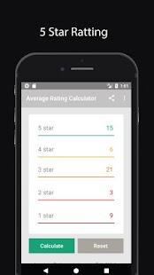 Average Rating Calculator - náhled