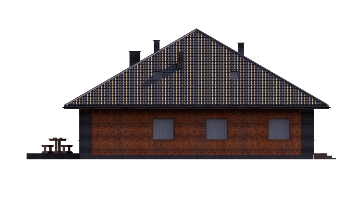 Quad Z Dachem >> Projekt domu M54 (TFY-294) - 317.79m²