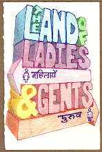"""Photo: Many signs in many places had seperate lines or areas for """"Ladies"""" and """"Gents"""" -- airport security to movie ticket offices and many places between."""