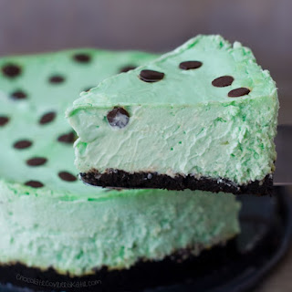 Thin Mint Girl Scout Cookie Cheesecake