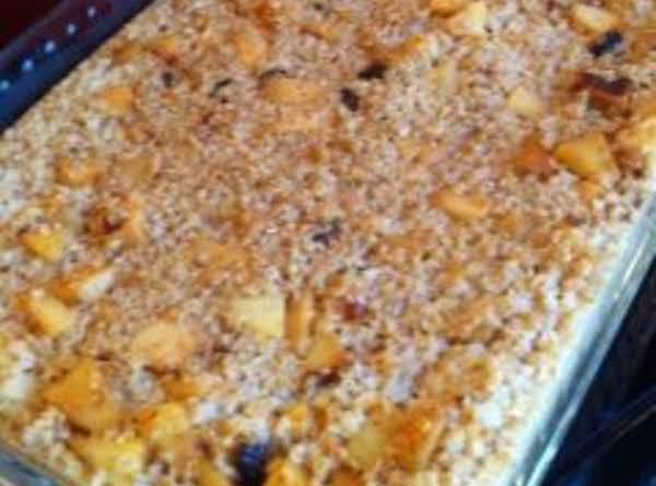 Apple Oatmeal Casserole Recipe