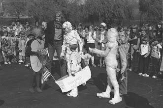 Photo: Fr. Joe with Halloween Carnival costume winners!