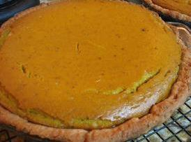 """Pour into unbaked 10"""" deep dish pie shell. Bake 55 minutes or until a..."""