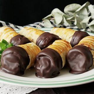 Chocolate Custard Horns.