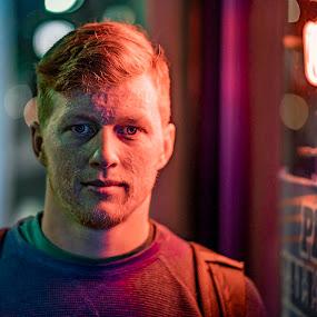 Neon Casey by Matt  Glenn - People Portraits of Men