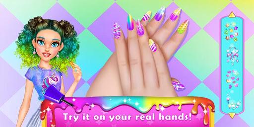 Rainbow Unicorn Nail Beauty Artist Salon 1.4 screenshots 2