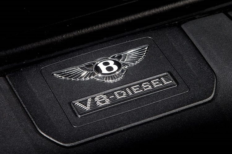 The V8 diesel produces 320kW and 900Nm. Picture: Picture: BENTLEY