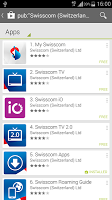 screenshot of Swisscom Apps