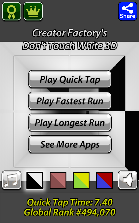 Don't Touch White 3D- screenshot