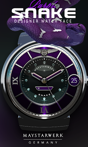 Purple Snake Watch Face
