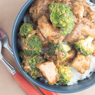 Chicken and broccoli with Chinese takeaway sauce