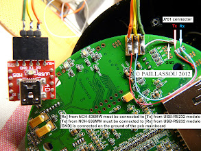 Photo: WANSVIEW NCH536MW DERICAM H501W AGASIO A522W RS232 PINOUTS Rx Tx GND pinouts J701 connector