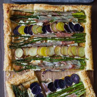 Asparagus Potato Puff Pastry Tart Recipe