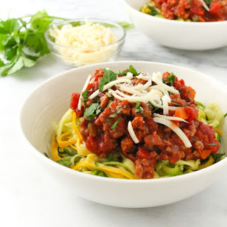 Turkey Bolognese with Zoodles.