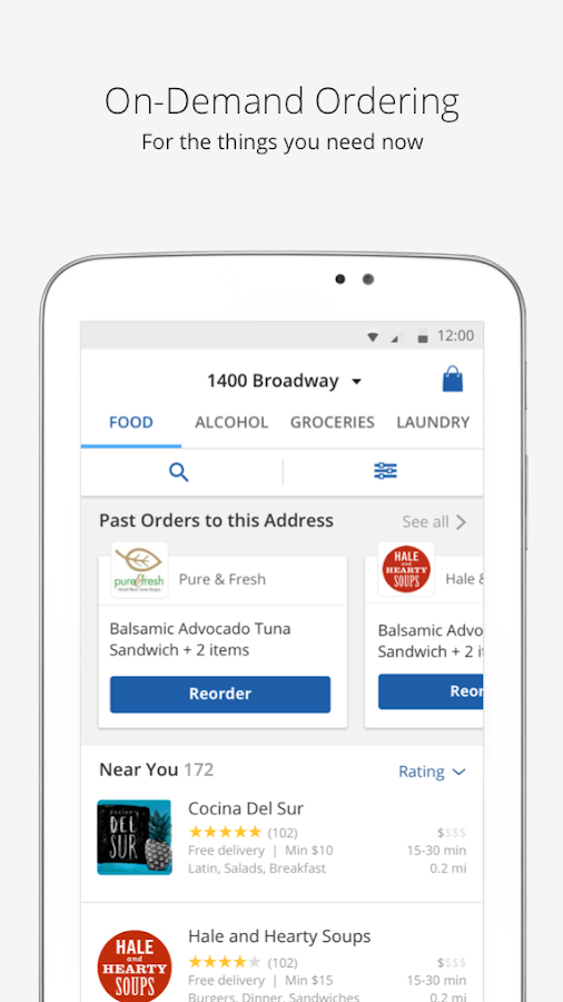 Food Delivery | delivery.com- screenshot