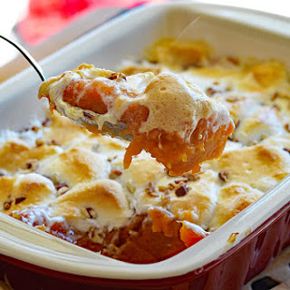 VEGAN Sweet Potato Casserole with Marshmallows Recipe