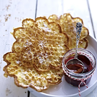 Waffles and Plum Compote