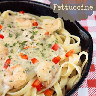 Creamy Cajun Shrimp Fettuccine.