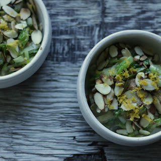 Warm Shredded Romaine & Ribboned Fennel Salad