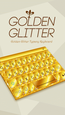 Golden Glitter Typany Theme - screenshot