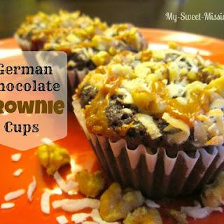 German Chocolate Brownie Cups