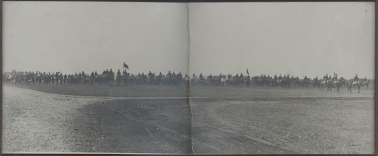 Photo: Battalion on horseback, probably at Camp Keyes